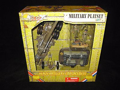 21ST Century Toys Ultimate Soldier 1:32 WW2 USA Heavy Artillery Emplacement I