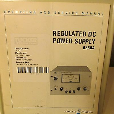 Agilent Hp 6286A Power Supply Operating,service Manual, Schematics, Parts