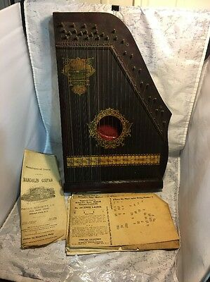 Ant Menzenhauer No 112 Guitar Zither Sp. Ed. Panama Model 1915 Box & Paperwork