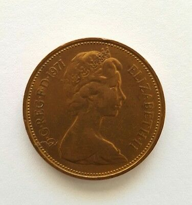 1971 Great Britain 2 New Pence Coin