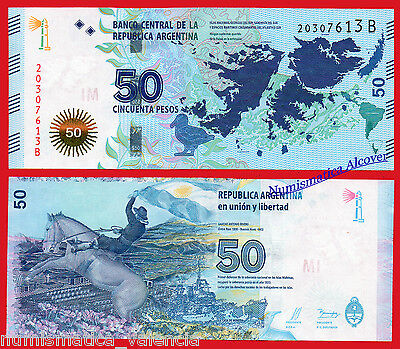 ARGENTINA 50 Pesos 2015 commemorative FALKLAND MALVINAS Serial B Pick new SC UNC