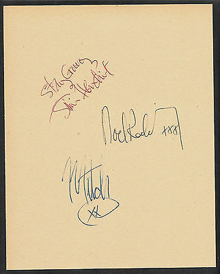 Jimi Hendrix Experience Autographs Reprint On Original Period 1960s 8x10 Paper