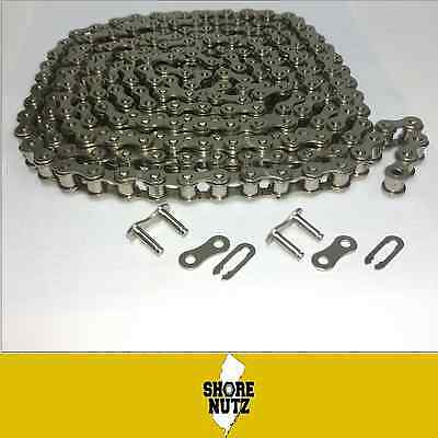 #40NP NICKEL PLATED Roller Chain 10ft with 2 Master Links  CORROSION RESISTANT