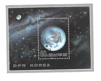 STAMP sheets KOREA cto lightly cancelled 1992 space