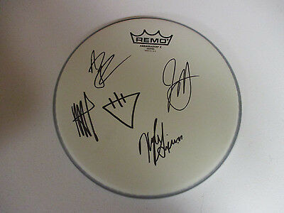 The Devil Wears Prada Band Autographed Signed Drumhead 1 Signing Picture Proof