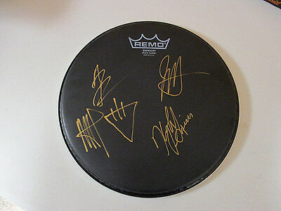 The Devil Wears Prada Band Autographed Signed Drumhead 2 Signing Picture Proof