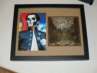 Ghost Bc Autographed Signed Framed Cd Cover With Signing Picture Proof
