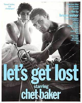 LET'S GET LOST Movie POSTER 11x17 H Chet Baker