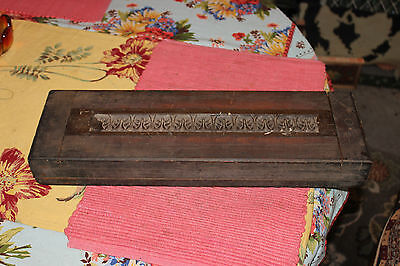 Antique Victorian Wood Mold Form Block-#1-Architectural Furniture Mold-Very Old