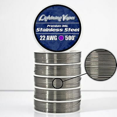 SS 316L - 22 AWG Stainless Steel Wire 316L 0.64mm - 500'