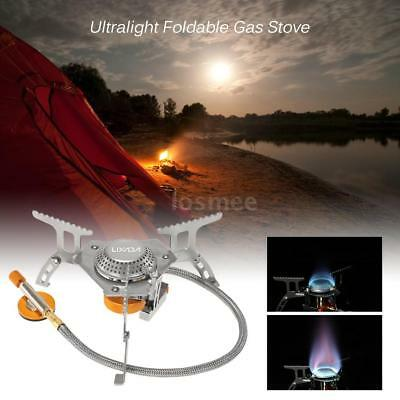 Camping Gas Stove Outdoor Cooking Portable Foldable Split Burner 3000W S2A0