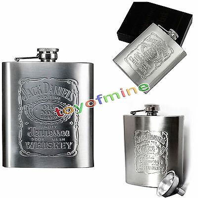 7 oz en acier inoxydable Hip Liquor alcool Pocket Flask avec entonnoir