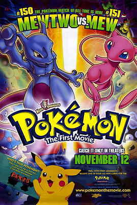POKEMON: THE FIRST MOVIE Movie Promo POSTER B Veronica Taylor Rachael Lillis