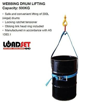 0.5T Webbing Drum Lifter drum lifting sling barrel lifter 500kg WLL 44 Gallon !!