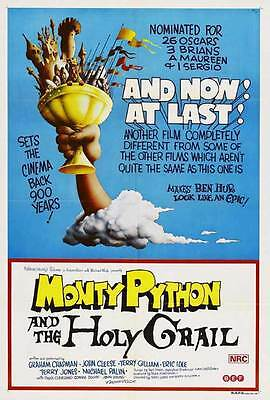 MONTY PYTHON AND THE HOLY GRAIL Movie Promo POSTER Australian John Cleese
