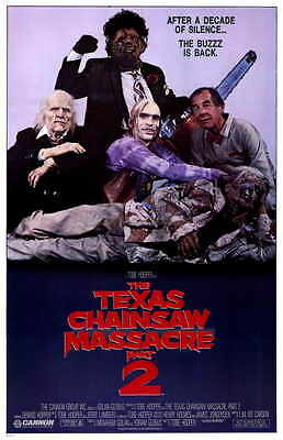 TEXAS CHAINSAW MASSACRE 2 Movie Promo POSTER Dennis Hopper Caroline Williams