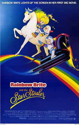 RAINBOW BRITE AND THE STAR STEALER Movie Promo POSTER Pat Fraley Charles Adler
