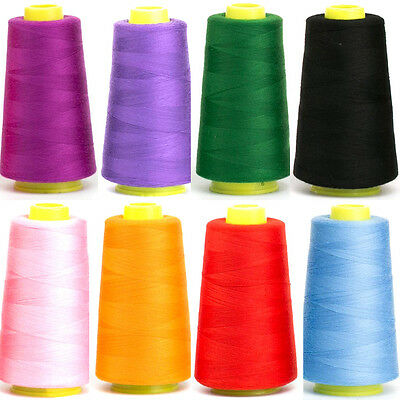 3000 Yards Sewing Thread For Machine Industrial Polyester Spools Metre Cones