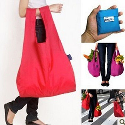 Folding Pouch Storage Bag Reusable Shopping Shoulder Tote Handbag Grocery Bags