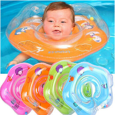 Inflatable Circle Newborn Neck Float Infant Baby Swimming Swim Ring Safety New