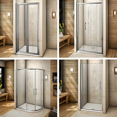 Bi fold/pivot/quadrant/sliding shower door walk in glass screen enclosure