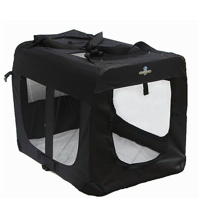 Confidence Pet Fabric Dog Folding 2 Door Crate Puppy Carrier Training Cage
