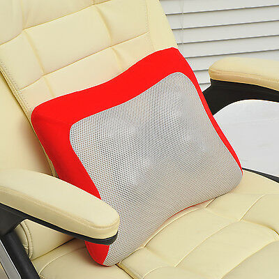 HOMCOM Electric Knead Massage Cushion Pillow Red Household Vehicle Shoulder NEW