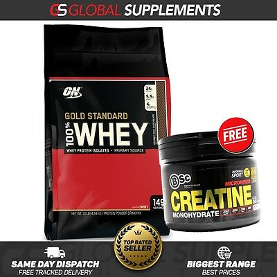 Optimum Nutrition Gold Standard 100% Whey Protein Powder 10Lb . / 4.5Kg