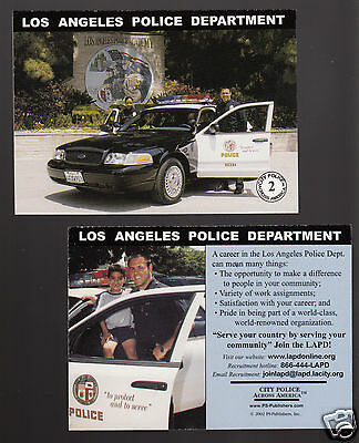 LOS ANGELES POLICE DEPARTMENT LAPD Ford City Squad Patrol Car 2002 CARD