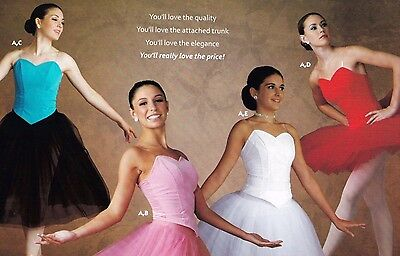 NWT Basque Spandex VelvetBack Ballet Ballerina Clear Strap PrincessSeam 5 colors