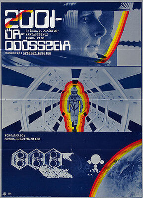 2001: A SPACE ODYSSEY Movie Promo POSTER Hungarian Keir Dullea Gary Lockwood