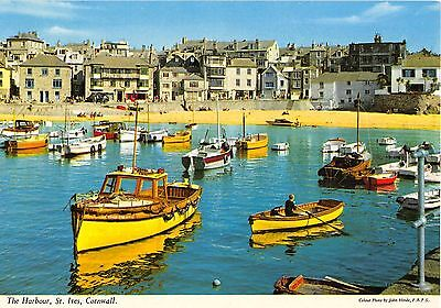 Cornwall Postcard The Harbour St Ives Cornwall Z1 023