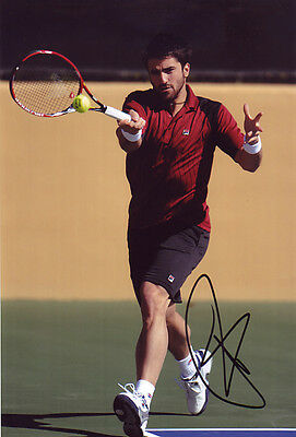 Janko Tipsarevic Signed 8X12 Inches Tennis Photo