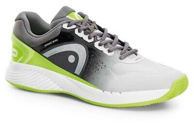 Head Sprint Evo Mens Tennis Court Shoes - Grey / Green - CLEARANCE - RRP £79.99!