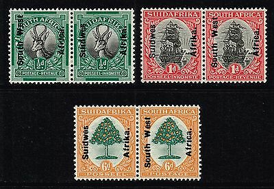 South West Africa 1926 set, MH pairs (SG#41/43)