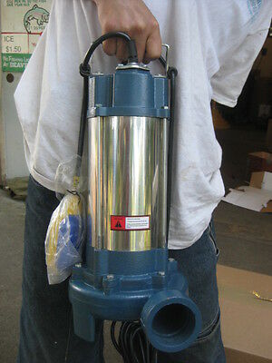 1.5HP Industrial Sewage Cutter Grinder Submersible sump pump 60GPM *MSRP: $1700!