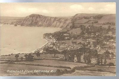 c1909 Sidmouth from Salcombe Hill England UK  Postcard