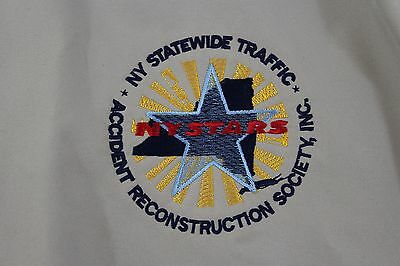 XL tan NY Statewide Traffic Accident reconstruction society golf windbreaker
