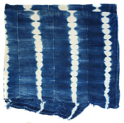 Soft Vintage stitch dyed Dogon indigo cloth from Mali, West Africa E135