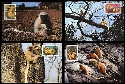 Bhutan WWF Golden Langur 4 official Maxicards
