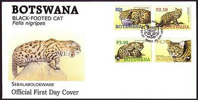 Botswana WWF Black-footed Cat FDC