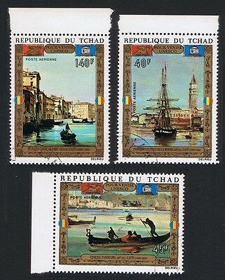 Chad UNESCO 'Save Venice' Campaign Paintings 3v CTO SG#369/71 SC#C127-C129 CV£4
