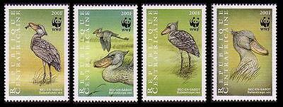 Central African Rep. WWF Shoebill 4 stamps SC#1239 a-d MI#2211-14