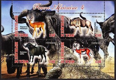 Chad Wildlife Sheetlet issue No 4