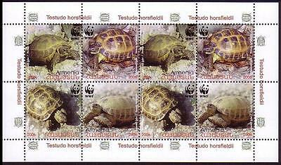 Armenia WWF Four-toed Tortoise Sheetlet of 2 sets / 8 stamps SG#605/08 SC#753-56