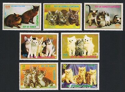 Eq. Guinea Cats and Kittens 7v MI#1016-22