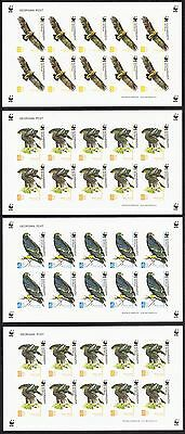 Georgia WWF Greater Spotted Eagle 4 Sheetlets imperf SG#509/12 SC#412-15
