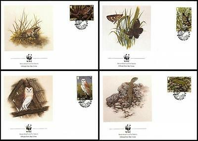 Jersey WWF Wildlife 4 official FDCs