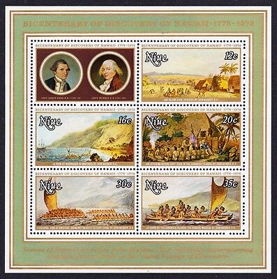 Niue Bicentenary of Discovery of Hawaii MS SG#MS240 SC#218a
