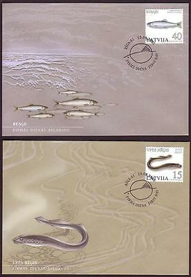 Latvia Fish FDC SG#641/42